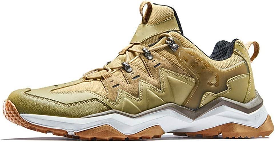 DSX Chaussures de Randonnée Chaussures de Randonnée Imperméables pour Hommes Randonnée en Plein Air Escalade Trekking Baskets Hommes, Jaune, 8UK