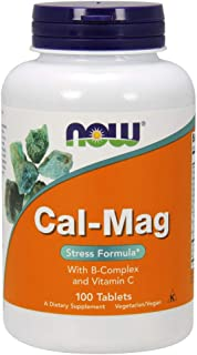 NOW Supplements, Cal-Mag Stress Formula with B-Complex and Vitamin C, 100 Tablets