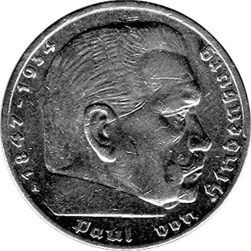 5 Reichsmark Deutschland, 1936 A, 'Hindenburg' (Jäger: 367) SS