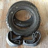 2x Duro 10 Zoll Reifen + AV (gerade) Schlauch Autoventil 10x2 | 54-152 Fahrrad Kinderwagen Roller Roller Dreirad