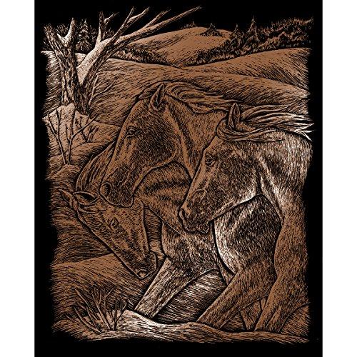 Royal & Langnickel COPF23 Art de la gravure sur cuivre Taille A4 Trio de Chevaux