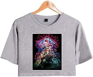 Camiseta Stranger Things Chica, Camiseta Stranger Things Cortas Mujer T Shirt Manga Corta Niña Retro tee Impresión Abeceda...