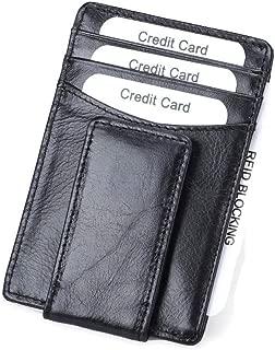 Genuine Leather Wallet Money Clip