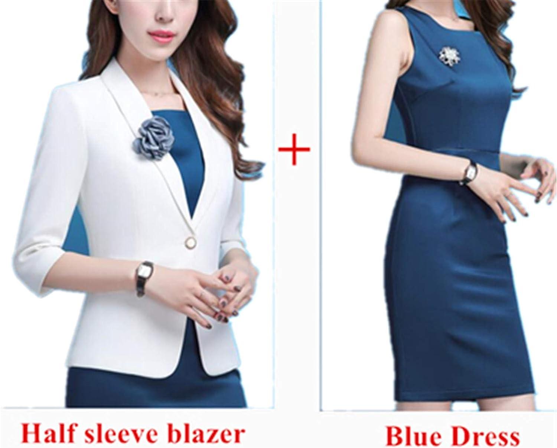 Susan1999 Women Blazer Spring Fashion Clothes Business Formal Jacket OL Office Lady Plus Size Work Wear
