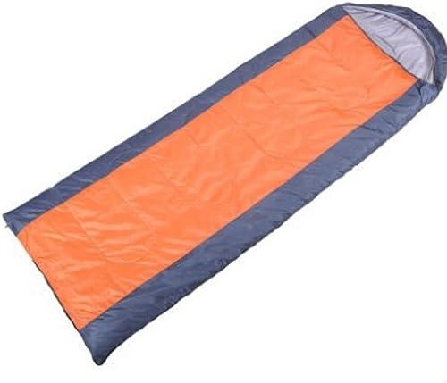 Enveloppe Xin.S Avec Capuchon Sac De Couchage En Coton Camping Extérieur Randonnée Pédestre Sac De Couchage Multifonctionnel (bleu Et Orange)