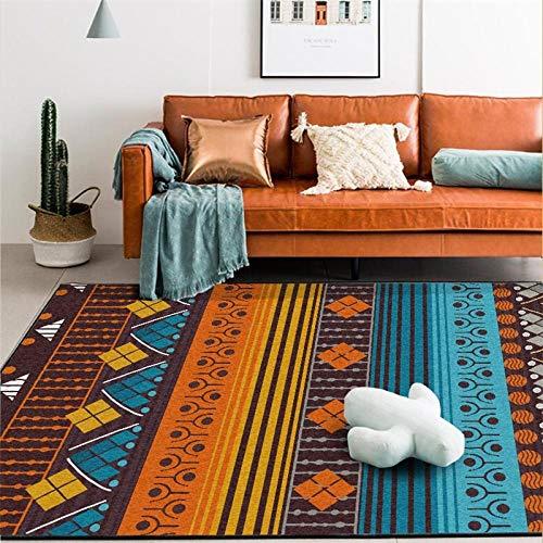 Moderno Alfombr De Salón Antidesli zanteDecoración del Hogar Alfombra Líneas de Colores Retro Impermeable Dormitorio Comedor Alfombra 160x280cm