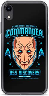 iPhone XR Pure Clear Case Cover Federation Star Fleet Commander Saru 22 57 USS Discovery NCC - 1031