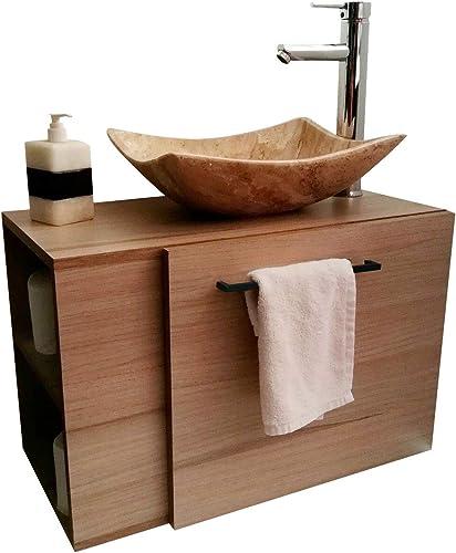 Set: Mueble para baño, ovalin de marmol y Monomando