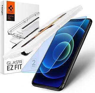 SPIGEN EZ Fit Glas.tR AntiBlue Screen Protector Designed for Apple iPhone 12/12 Pro (2020) [6.1-inch] Slim 9H Tempered Gla...