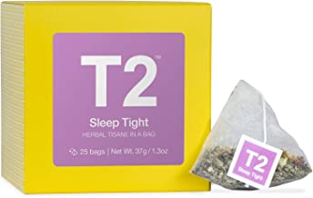 T2 Tea Sleep Tight Herbal Tea Bags in Box, 25-Count