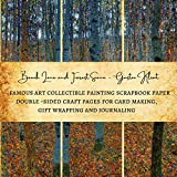 Beech Lane and Forest Scene - Gustav Klimt | Famous Art Collectible Painting Scrapbook Paper | Double-Sided Craft Pages for Card Making, Gift Wrapping ... Premium Scrapbooking Sheets for Crafters