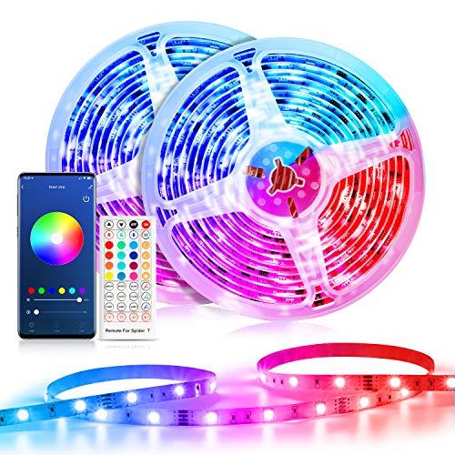 Alexa LED Strip 20M, Etersky Wlan Smart LED Streifen Sync mit Musik, RGB led WiFi Lichtband Lichterkette mit Fernbedienung für Haus, Küche, Party, TV, Kompatibel mit Alexa, Google Home (NUR 2.4GHz)