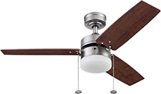Prominence Home 51478-01 Reston Ceiling Fan, 42, Pewter