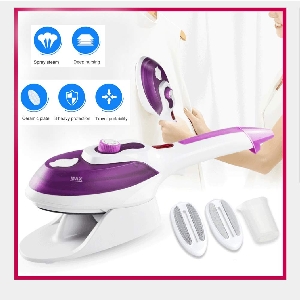 Cheap MATECam Mini Garment Steamer for Clothes Handheld Clothes Steamer Iron Anti-Drip Powerful Wrinkle Remover for Home and Travel for Vertical & Horizontal Ironing with Removable Brush Black Friday & Cyber Monday 2019