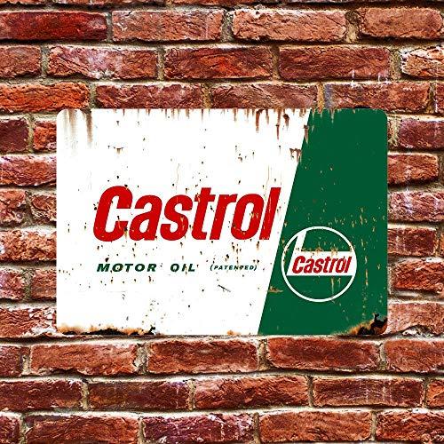 'N/A' Aluminium Sign Castrol Motor Oil Aluminium Metal Sign Plaque Wall Decor Poster Garage Shed Bar Pub Club Kitchen 10 x 14 Inch