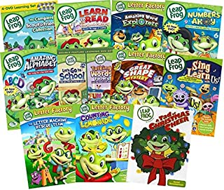 Leapfrog 15-DVD Mega Pack - Learn to Read at the Storybook Factory/ Amazing Word Explorers/ Numberland/ Phonic Farm/ Numbers Ahoy/ Amazing Alphabet Amusement Park/ Let's go to School/ Talking Words ++