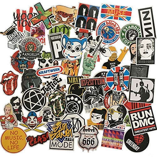 HUNSHA 60Pcs/Lot Mix Og Style Retro Classic Band Sticker Notebook Refrigerator Skateboard Trolley Case Decals Backpack Tables