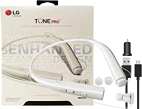 LG Tone Pro Bluetooth Wireless Headset HBS-780 HD with Wall & Car Charger (US Retail Packing)