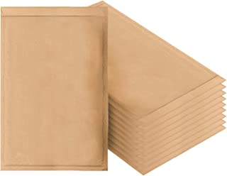 Amiff Natural Kraft Bubble mailers 12.5 x 18 Brown Padded envelopes 12 1/2 x 18. Pack of 10 Kraft Paper Cushion envelopes. Exterior Size 13x19 (13 x 19). Peel and Seal. Mailing, Shipping.