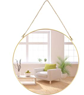 Round Wall Mirror,Gold Wall Mounted Mirror,Vintage Decorative Golden Border Hanging Mirror For Bathroom, Living Room,Bedro...
