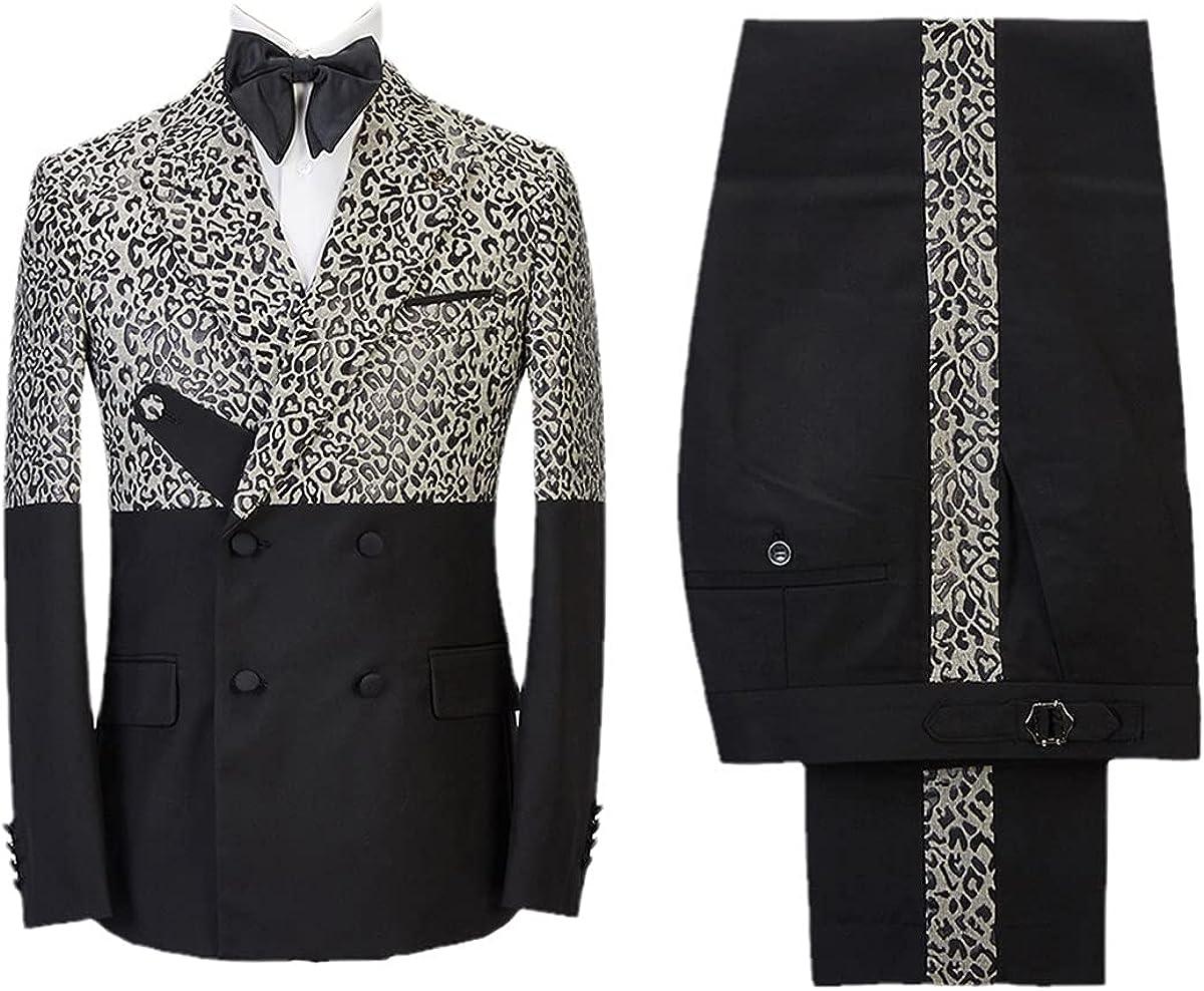 Men's Suit Custom Tuxedo 2 Piece Suit Jacket Wedding Party Singer Groom Christmas