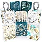 Arteza Bolsas de regalo | 24 x 17.8 x 8.6 cm | 16 bolsas surtidas | 5 diseños originales ...