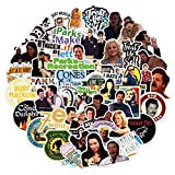 50Pcs Parks and Recreation Stickers US TV Series Stickers for Kids Teens Adult Laptop Water Bottle Bike Skateboard Luggage Toy Snowboard Stickers (Parks and Recreation)