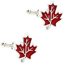 CIFIDET Maple Leaf Leaves Cuff Links Fashion Men Shirt Cufflinks with Gift Box