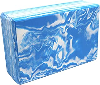 CWM Yoga Blocks 1 or 2 Pack High Density EVA Foam Blocks to Support and Deepen Poses Lightweight, Odor Resistant