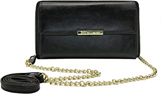 Clutch Purse Gift for Women Phone Wallets with Zipper Lady Leather Crossbody Bag with Shoulder Chain Strap