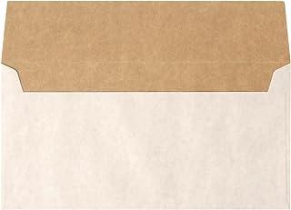 長3 カマス 封筒 ホワイト クラフト 100枚入 ( A4 横三つ折 が入るサイズ)