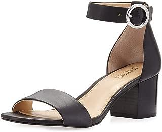 Michael Michael Kors Womens Lena Flex Mid Leather Open Toe, Black, Size 10.0