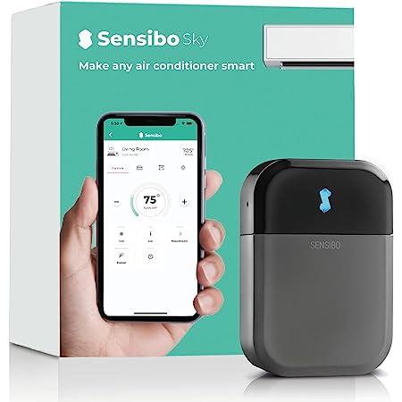 Sensibo Sky, système de climatiseur Intelligent. Installé en 1 Min. L'appli éco maintient Le Confort. Auto on/Off. WiFi-Google-Alexa-Siri. (Gris)