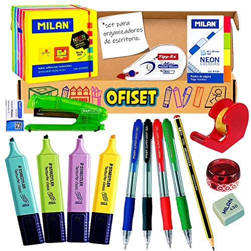 Coleset Pack Material Oficina y Papeleria Pack Boligrafos Pilot Subrayadores Pastel Pack Material Escritorio Papeleria Escolar Material Escolar Kawaii Organizador Escritorio en Materiales Escolares