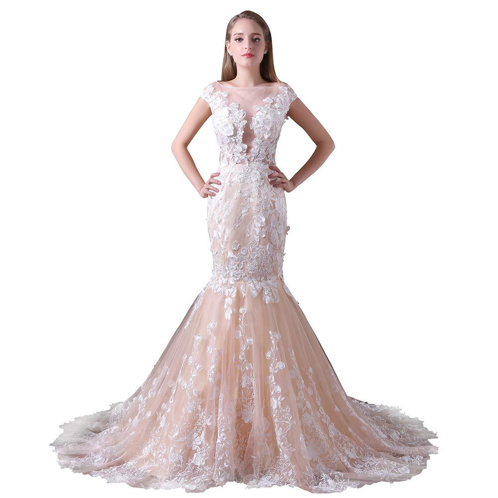 YUEZHIMENG Haute Couture Frauen Hochzeit Spitze Liebsten Elegantes