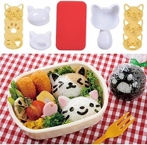Canjerusof 2st Auto Cute Fisch-Form Bento Reis-Ball-Sushi-Form Entz/ückende Ei-Formen Koch-Werkzeug Picknick-zubeh/ör