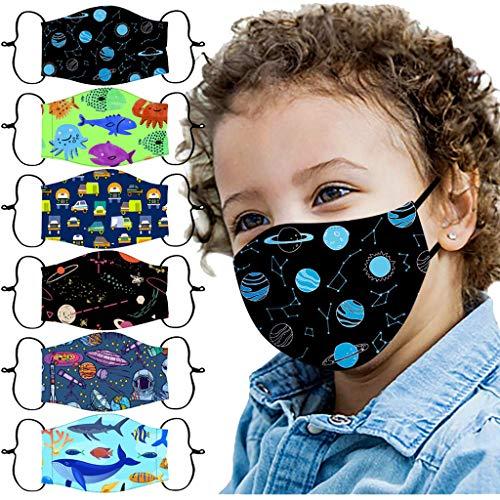 BBring 6 Stück Mundschutz Schal für Kinder Wiederverwendbar Hochwertiges Waschbar, Multifunktional für Radfahren, Laufen B7339