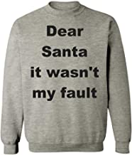 Groovy Gifts For All Christmas Quote - Dear Santa it Wasn't My Fault - Sweatshirt