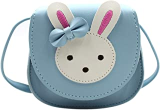 Little Girls' Cute Rabbit Crossbody Purse Small Bow Shoulder Bag Handbag for Kids Toddlers