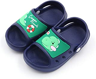 Kid's Cute Clog Cartoon Slide Sandals Garden Slip On Water Shoes Children Slide Beach Pool Shower Slippers Mules for Toddlers Boys Girls