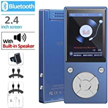 $35 Get MP3 Player Bluetooth4.2 Built-in Speaker 16GB with 2.4 Inch TFT Color Screen Lossless Sound Music Video Player with FM Radio, Supports SD Card up to 128GB by DeeFec - Blue