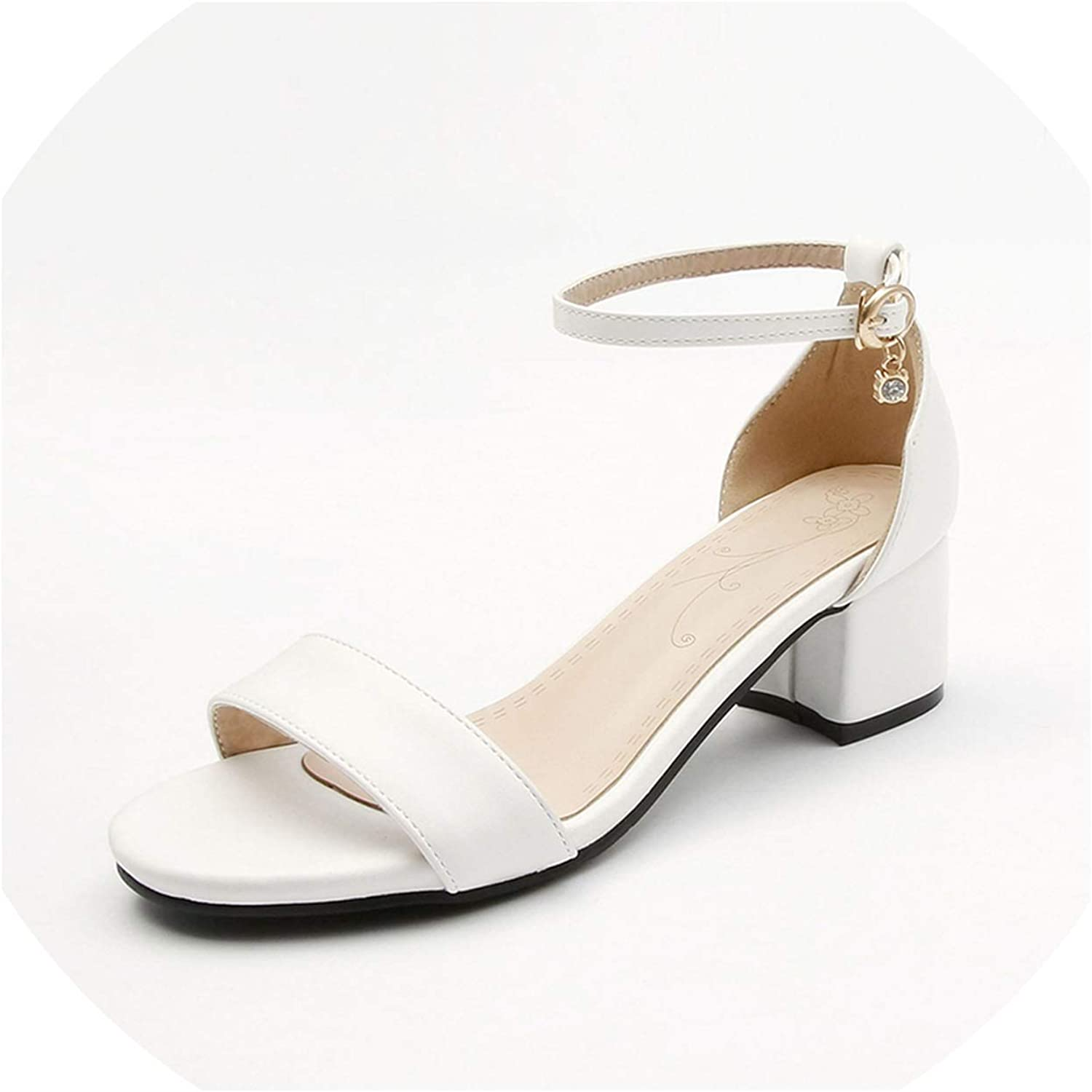 Square High Heels Women shoes Summer Sandals Buckle Woman shoes