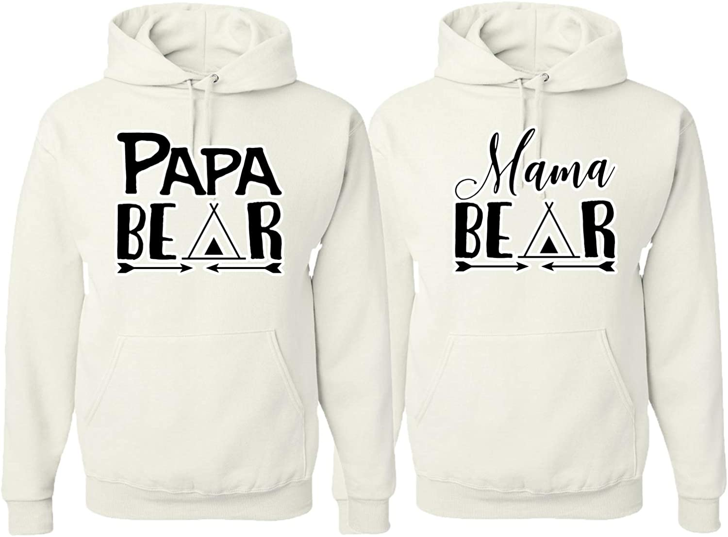 Papa Mama Bear 授与 Cute Husband Wife Hers and Gift Matching His Coup 年中無休