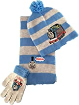 Thomas The Train Scarf+Gloves+Beanie Boy Woolen Set Kid Winter Warm Hat Student (2-8Y)