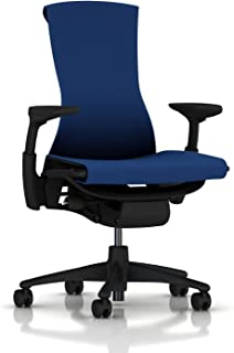 Herman Miller Embody Ergonomic Office Chair | Fully Adjustable Arms and Carpet Casters | Berry Blue Rhythm
