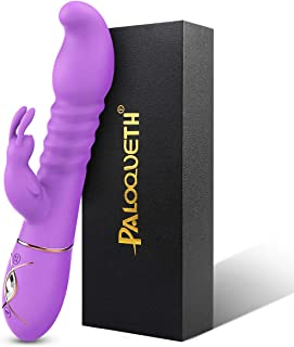 Thrusting Rabbit Vibrator with 3 Powerful Thrusting...