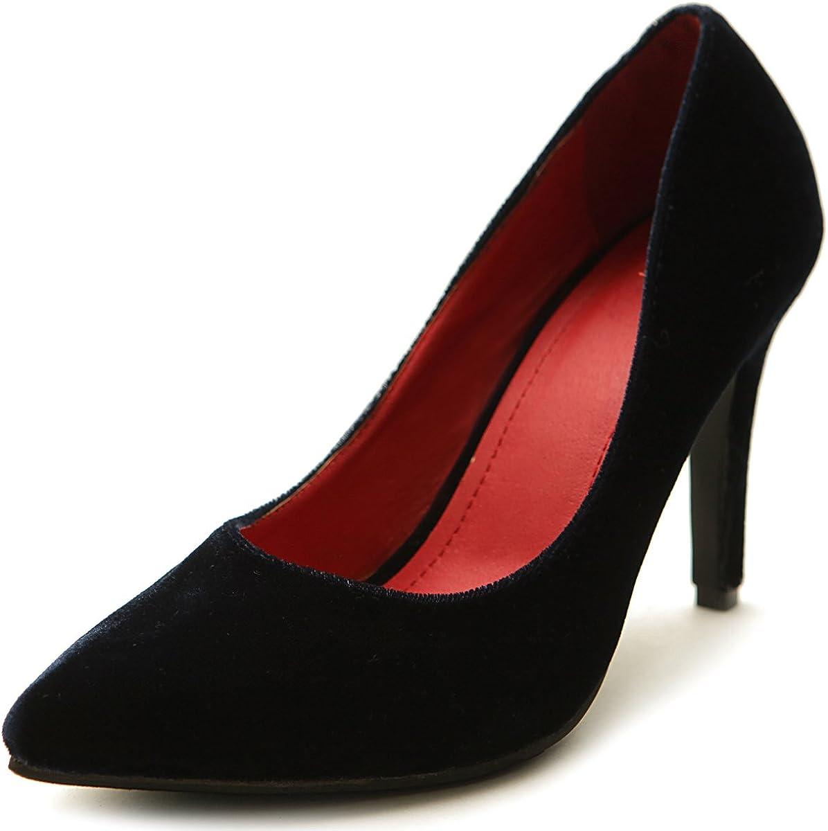 Ollio Women's Platform New life Shoe Ribbon Heel Pump Multi High Color Genuine