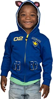 Paw Patrol Children I am Chase Marshall Blue Red Zip up Hoodie