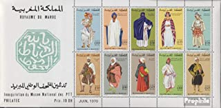 Morocco block6 (complete.issue.) 1970 Postal Museum (Stamps for collectors) Uniforms / costumes