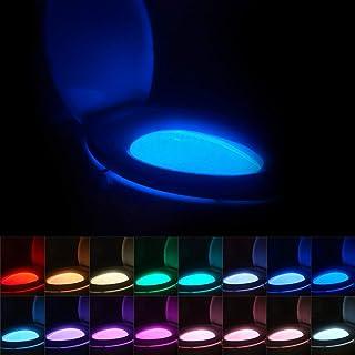 نور شب توالت 16 رنگی ، حرکت فعال چراغ توالت توالت ، هدایای منحصر به فرد و خنده دار هدایای تولد ایده برای پسر نوجوان پسر بچه های پسرانه زنانه ، اسباب بازی های جالب سرگرم کننده (1 بسته توالت نور)